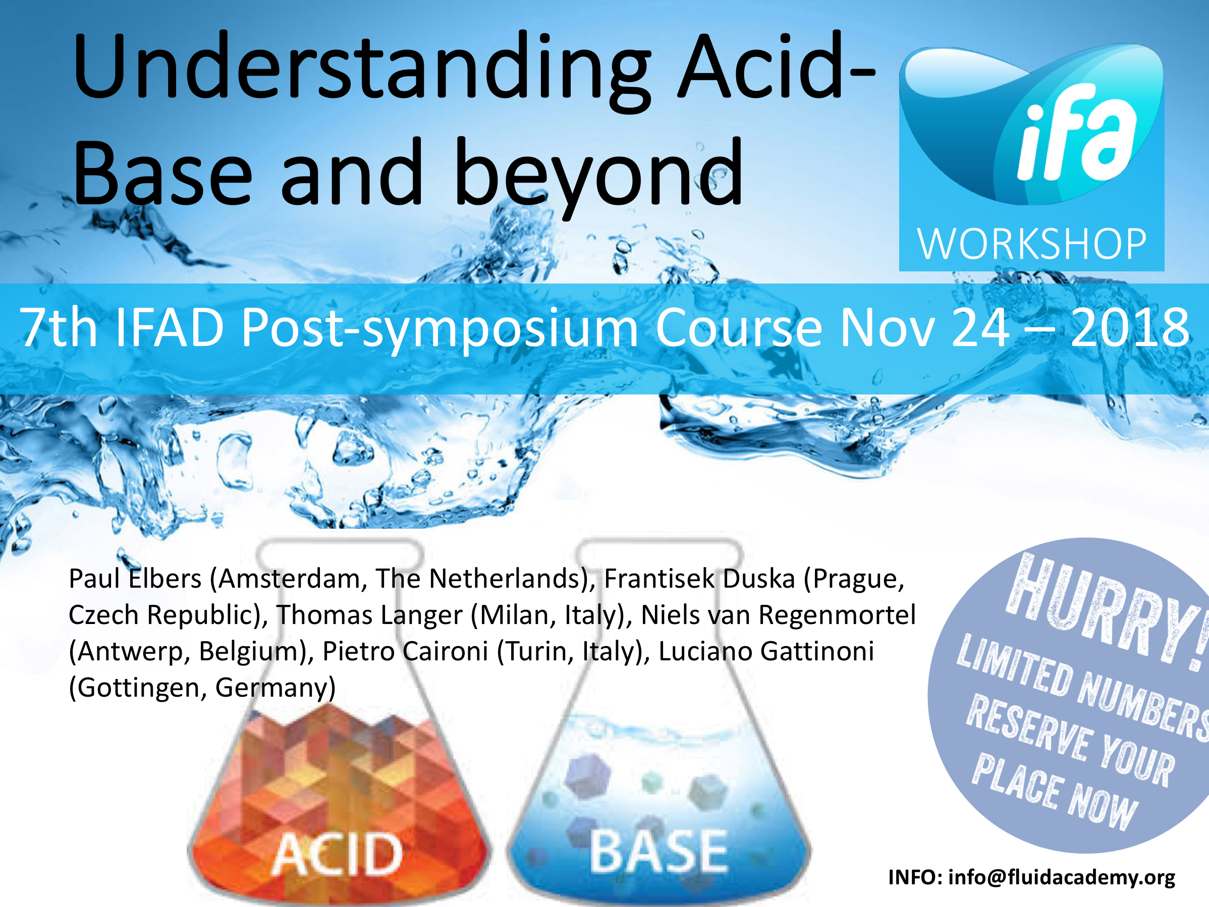 1st Acid-Base course