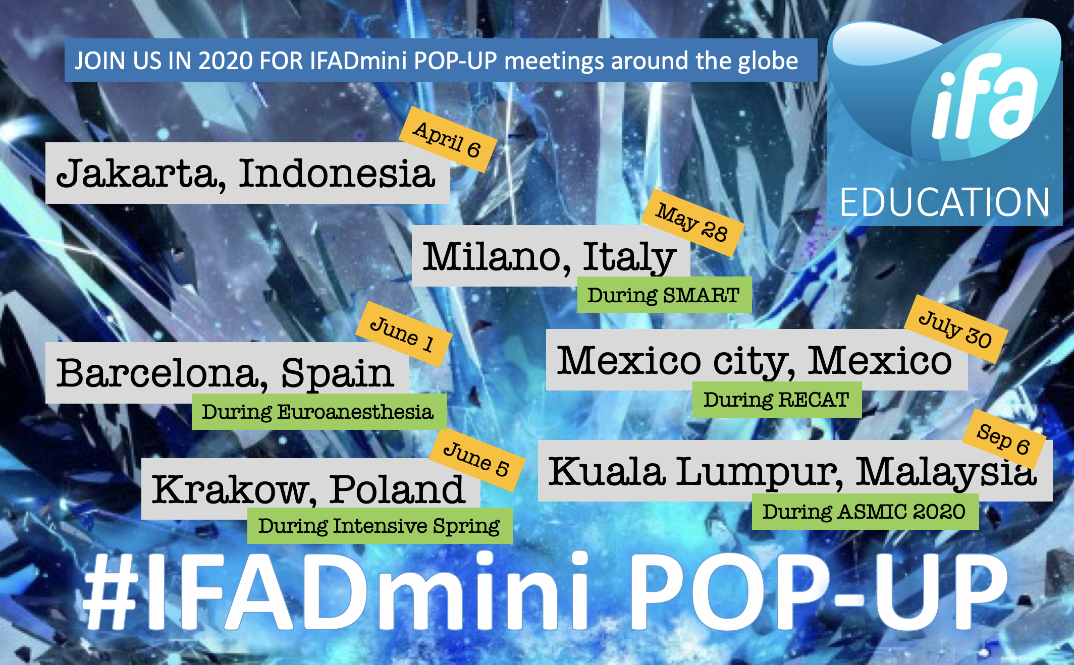 Join us for different #iFADmini pop-up meetings in 2021