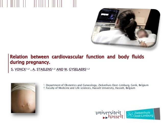 Relation between cardiovascular function and body fluids during pregnancy.