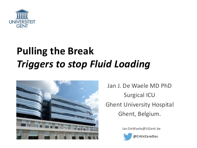 Pulling the Break Triggers to stop Fluid Loading