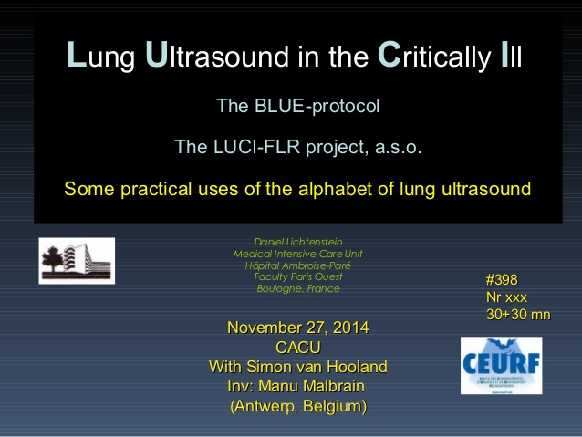 Lung Ultrasound in the Critically Ill