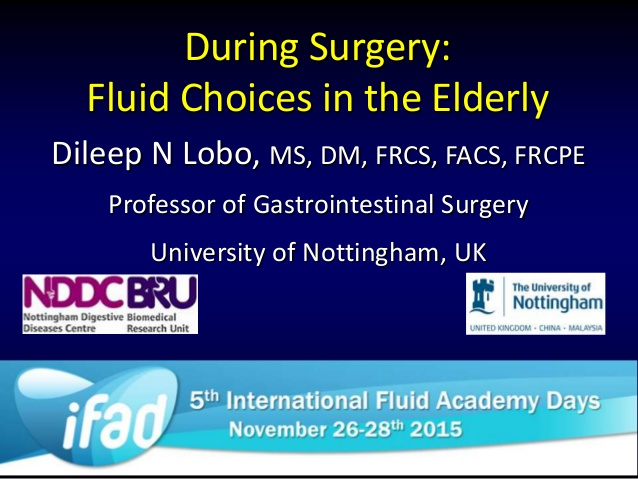 Intraoperative fluids in the elderly