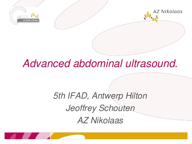 Advanced abdominal ultrasound