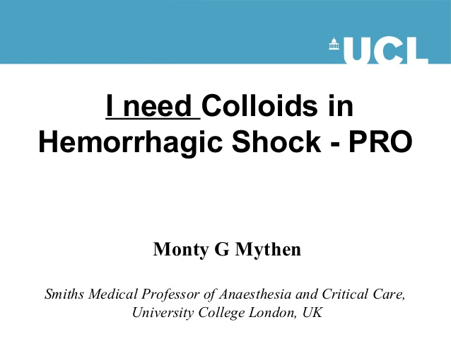I need Colloids in Hemorrhagic Shock - PRO