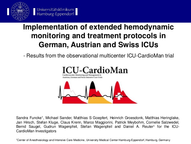 Implementation of extended hemodynamic monitoring and treatment protocols in German, Austrian and Swiss ICUs