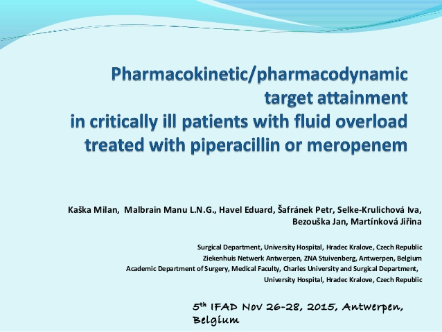 Pharmacokinetic/ pharmacodynamic target attainment in critically ill patients