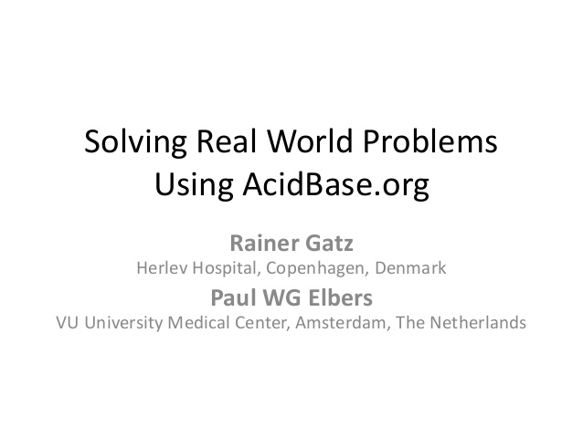 Solving real world problems Using AcidBase.org