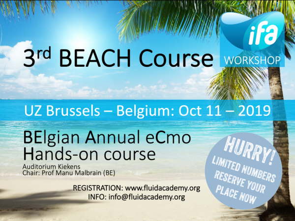 3rd BEACH (Belgian Annual ECMO Handson) Course