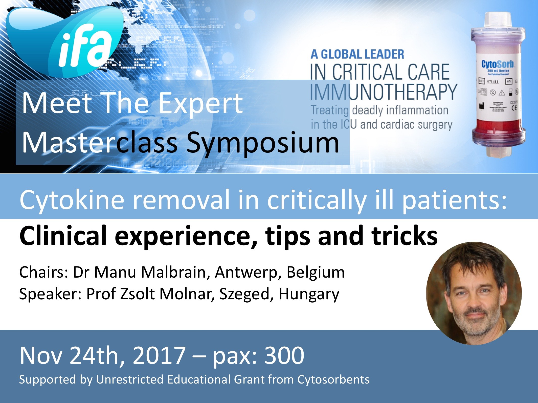 Satellite Masterclass Symposium on cytokine removal