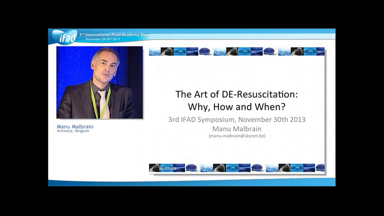 Manu Malbrain - The Art of De-resuscitation