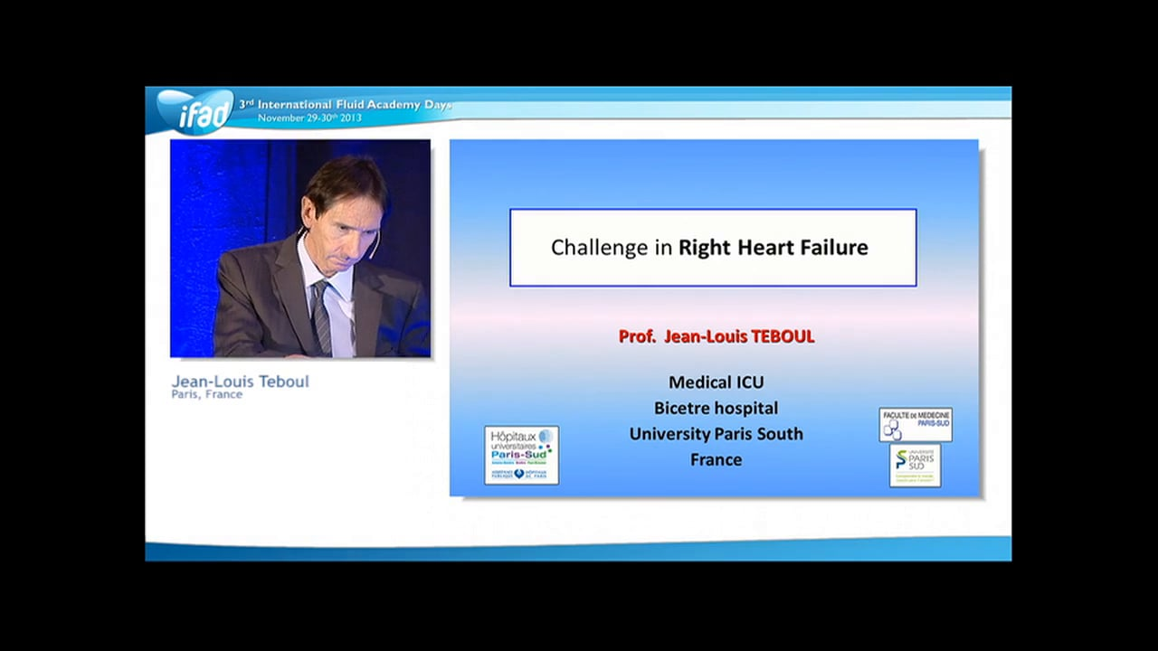 Jean-Louis Teboul - Right Heart Failure