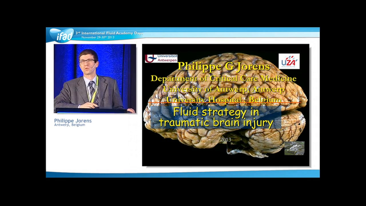 Philippe Jorens - Update in Traumatic Brain Injury