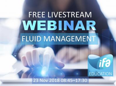 Livestream Webinar on Fluid Management (#IFAD2018)
