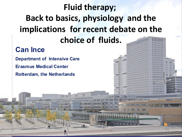 Fluid therapy; Back to basics, physiology and the implications for recent debate on the choice of fluids.