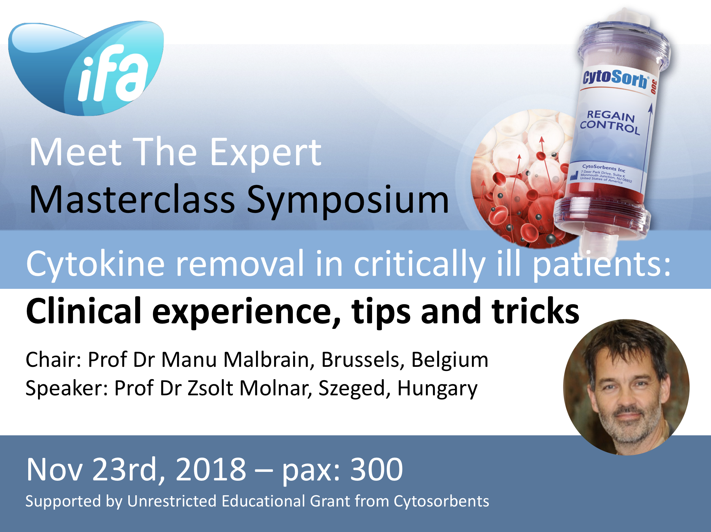 Satellite Masterclass Symposium on Blood Purification