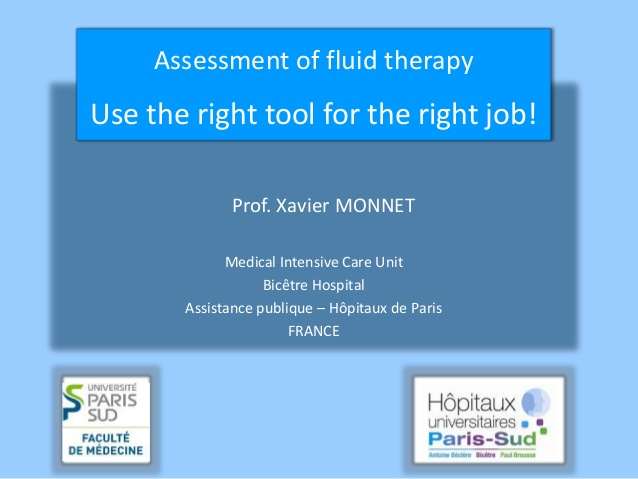 Xavier Monnet - Assessment of fluid therapy - IFAD 2011