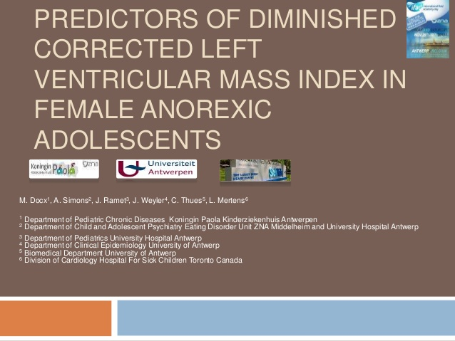 Predictors of diminished corrected left ventricular mass index in female anorexic adolescents