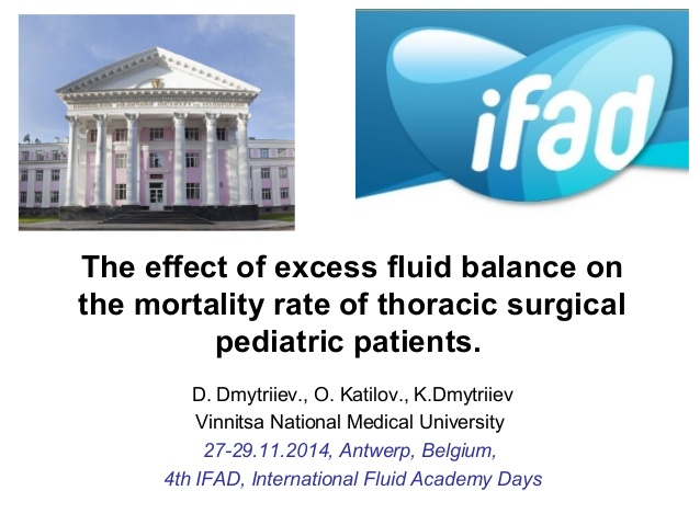The effect of excess fluid balance on the mortality rate of thoracic surgical pediatric patients.