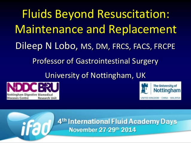 Fluids Beyond Resuscitation: Maintenance and Replacement