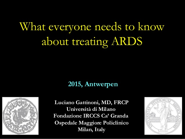 What everyone needs to know about treating ards