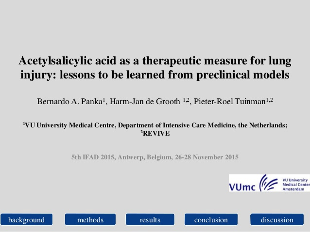 Acetylsalicylic acid as a therapeutic measure for lung v1