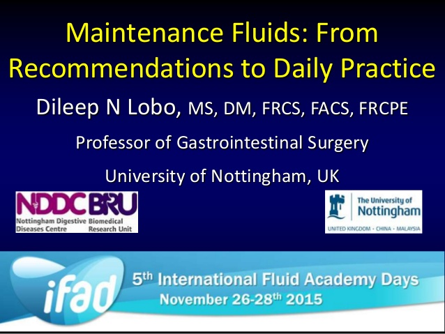 Maintenance Fluids: From Recommendations to Daily Practice