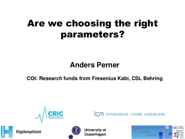 Are we chosing the right parameters?
