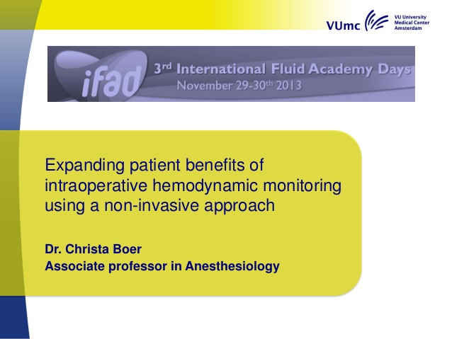 Expanding patient benefits of intraoperative hemodynamic monitoring using a non-invasive approach