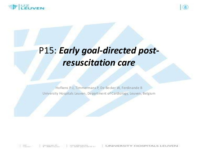 P15 final early goal directed post-resuscitation care