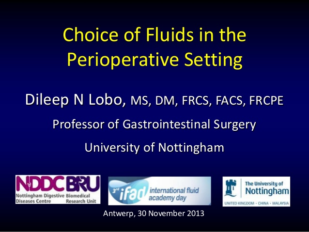 Choice of Fluids in the Perioperative Setting