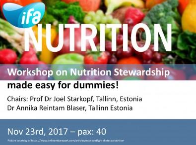 Workshop on Nutrition Stewardship