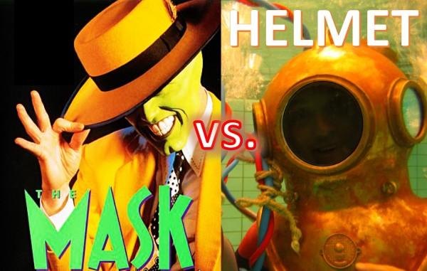 NIV via mask vs. helmet